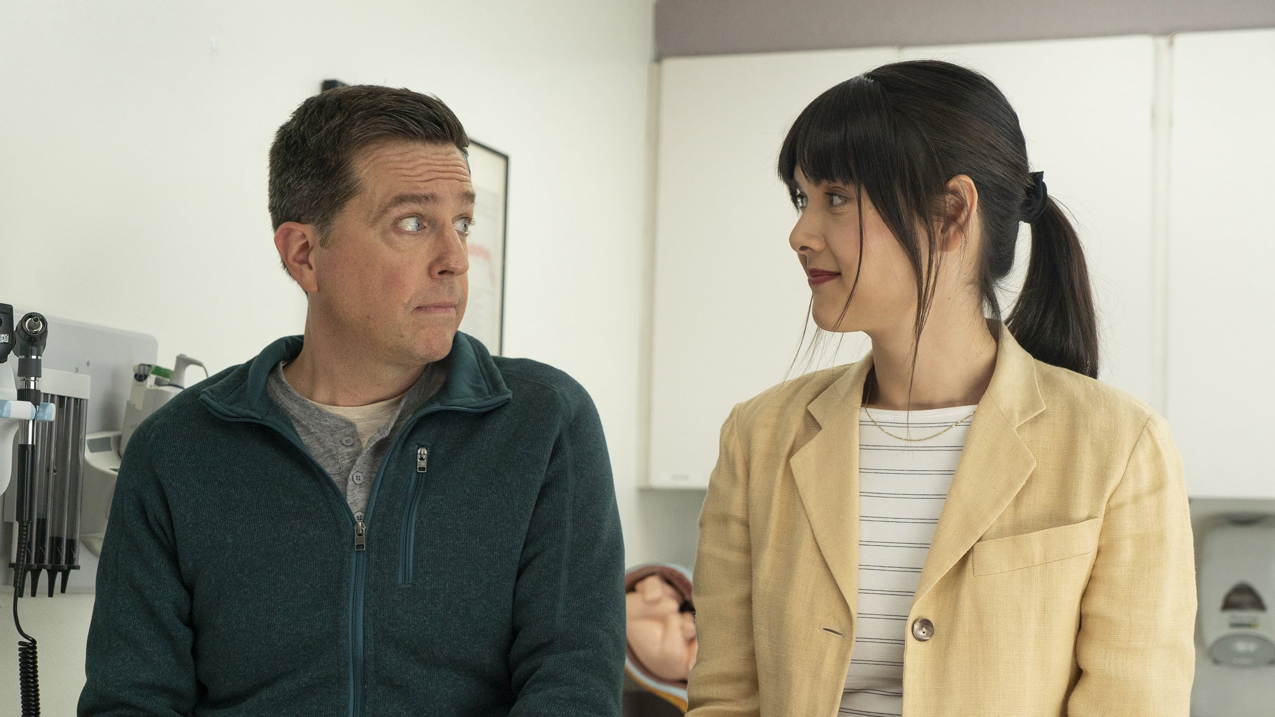 Matt (Ed Helms) chooses Anna (Patti Harrison) as a surrogate for the child he hopes to father